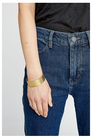 Textured Cuff in Brass
