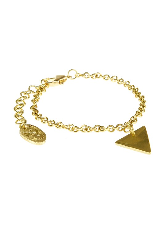 Triangle Bracelet in Brass