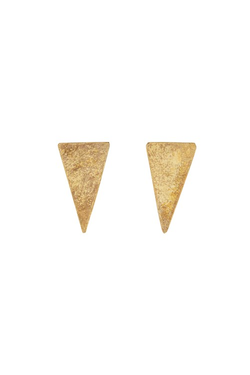 Triangle Stud Earrings in Brass