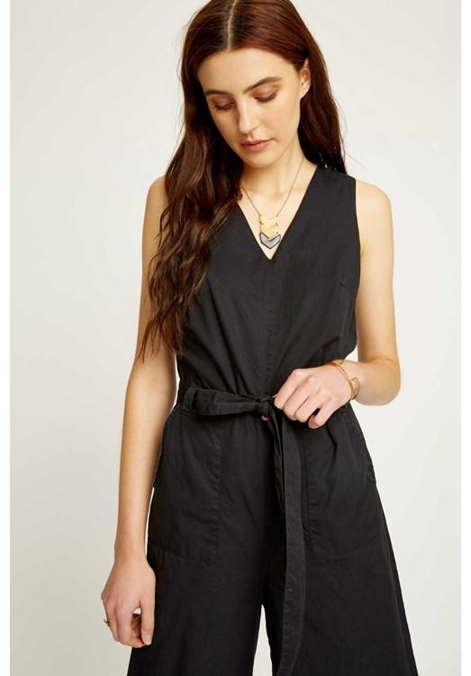 Adalee Jumpsuit in Black from People Tree