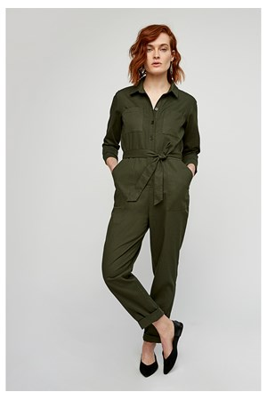 Cathy Jumpsuit in Khaki