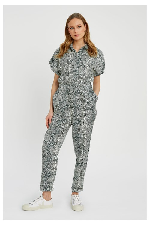 Lisette Snake Print Jumpsuit from People Tree