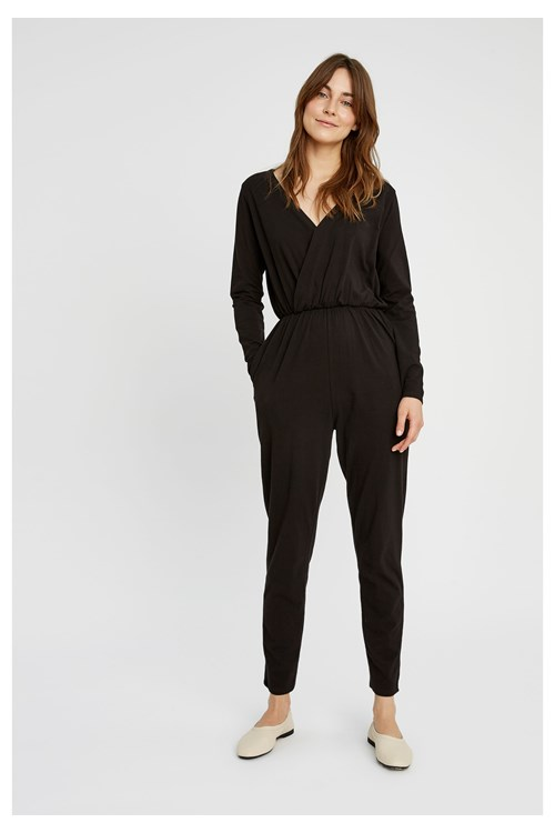 Odette Jumpsuit in Black from People Tree