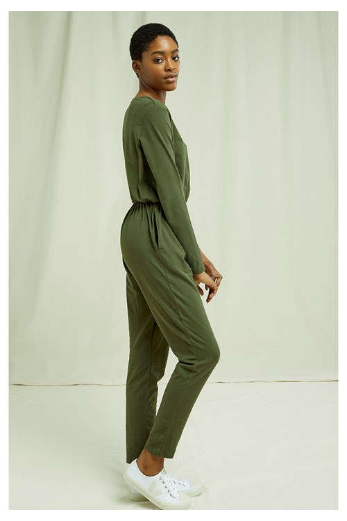 Odette Jumpsuit in Khaki