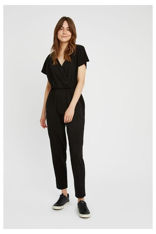 Oliana Jumpsuit in Black from People Tree