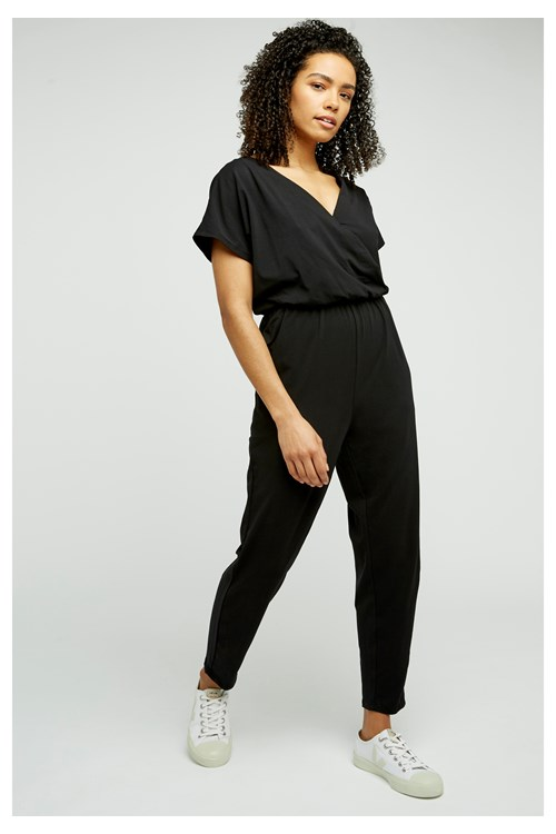 Oliana Jumpsuit in Black from People Tree