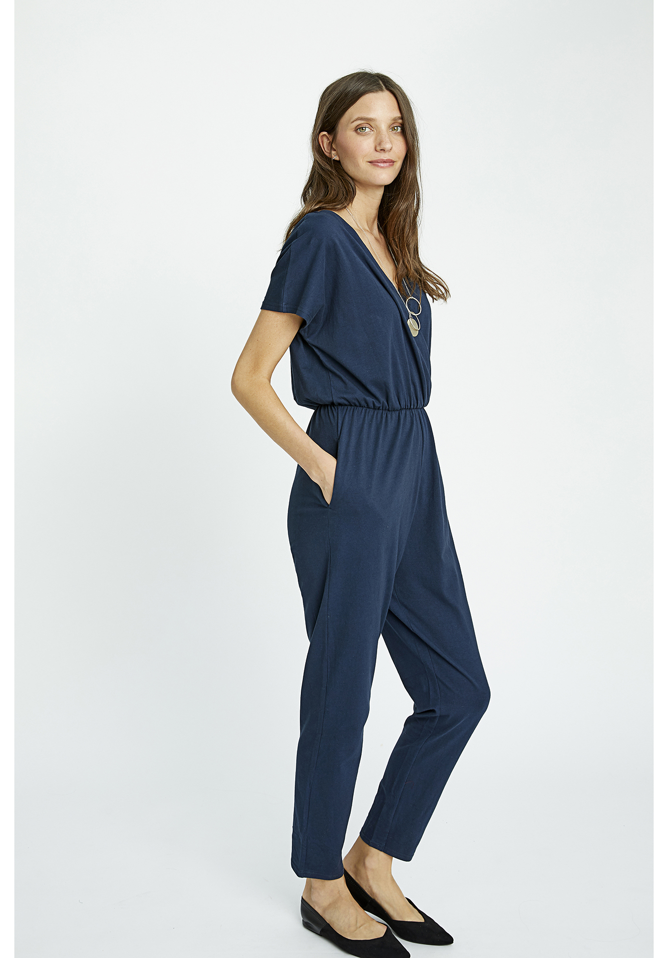 6144a72b2304 Jumpsuits - Oliana Jumpsuit in Navy
