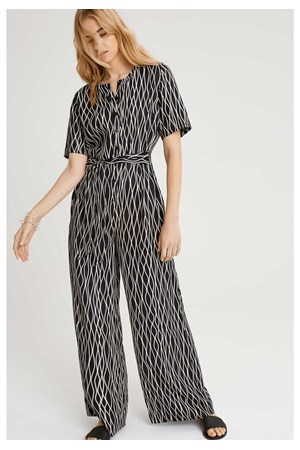 Rima Abstract Jumpsuit in Black