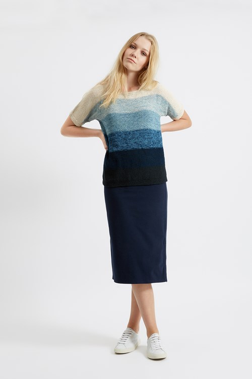 Etta Stripe Jumper in Blue from People Tree