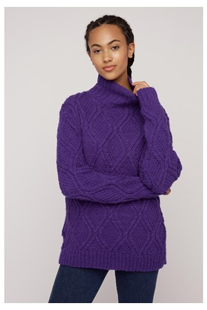 Fishermans Jumper In Purple