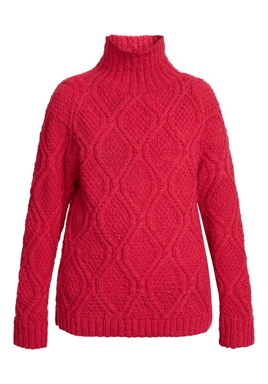 Fishermans Jumper in Raspberry