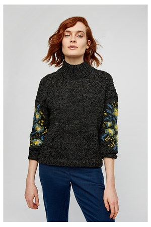 Flower Jaquard Jumper