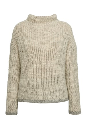 High Neck Jumper in Grey