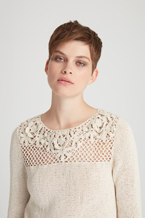 Jena Crochet Jumper in Cream
