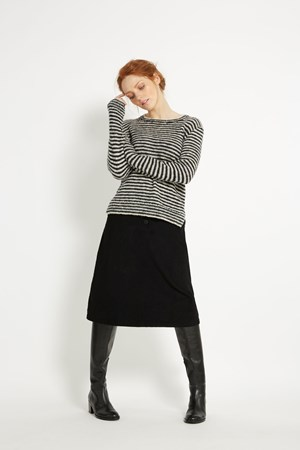 Juliet Stripe Jumper in Navy