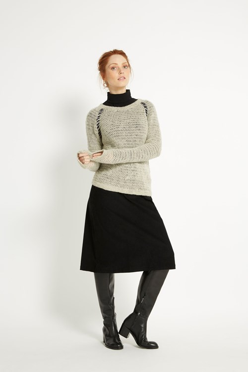 Karly Jumper in Light grey melange from People Tree