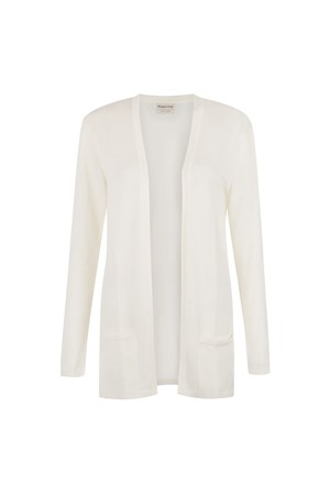 Leah Longline Cardigan in White