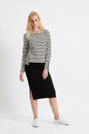 Marisa Stripe Sweatshirt in Black