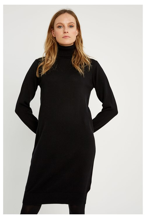 Millie Knitted Dress in Black from People Tree