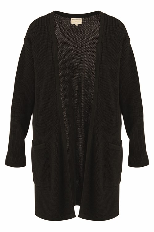 Nikita Long Line Cardigan Black