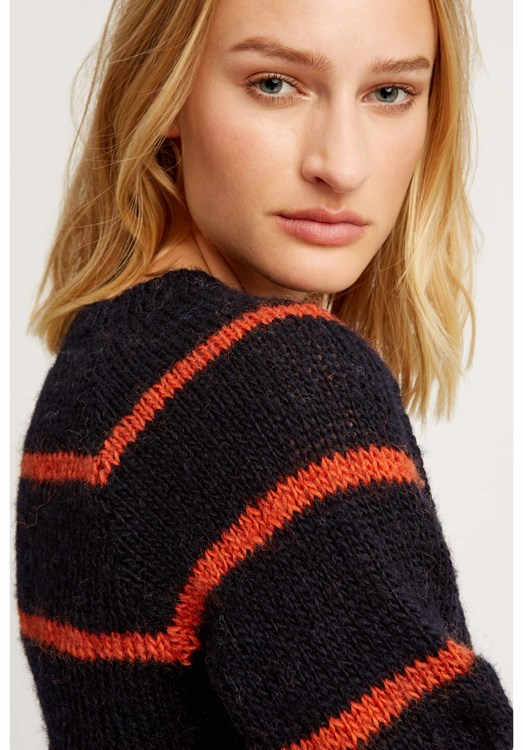 Sally striped jumper in Navy from People Tree