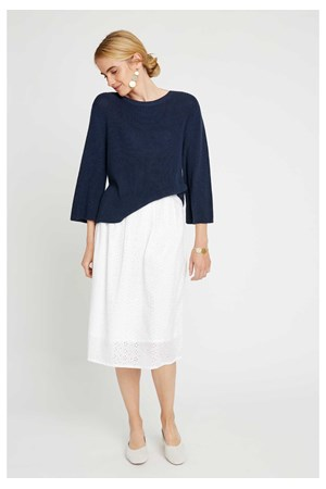 Sinead Rib Jumper in Navy