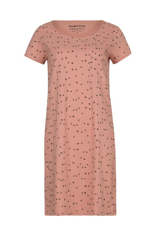 Birds Nightdress in Pink