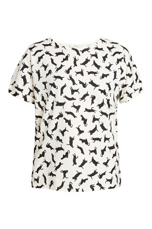 Cat Pyjama Short Sleeve Top