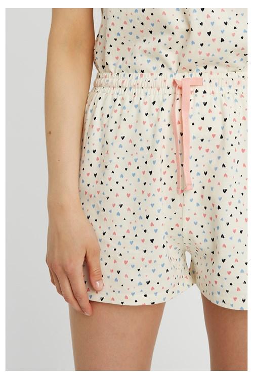 Heart Print Pyjama Shorts from People Tree