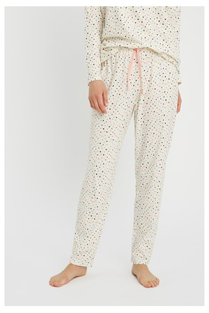 Heart Print Pyjama Trousers