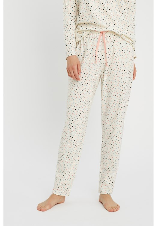 Heart Print Pyjama Trousers from People Tree