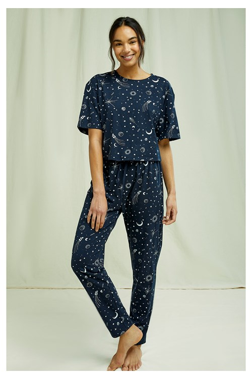 Starlight Cropped Pyjama Tee