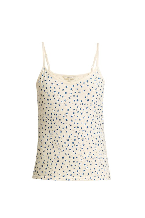 Stars Pyjama Camisole Top in Cream from People Tree