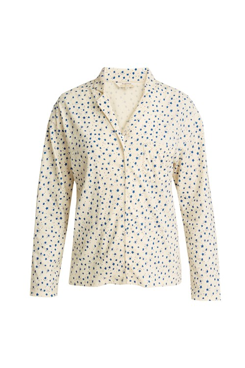 Stars Pyjama Shirt in Cream