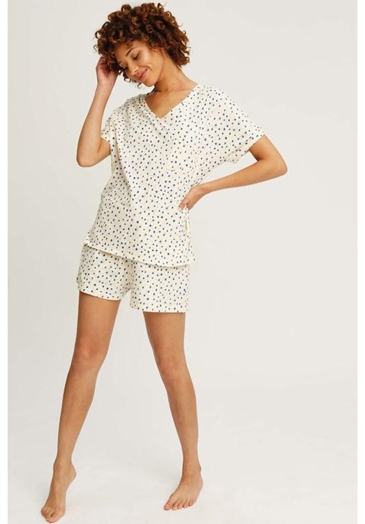 Stars Pyjama Shorts in Cream from People Tree