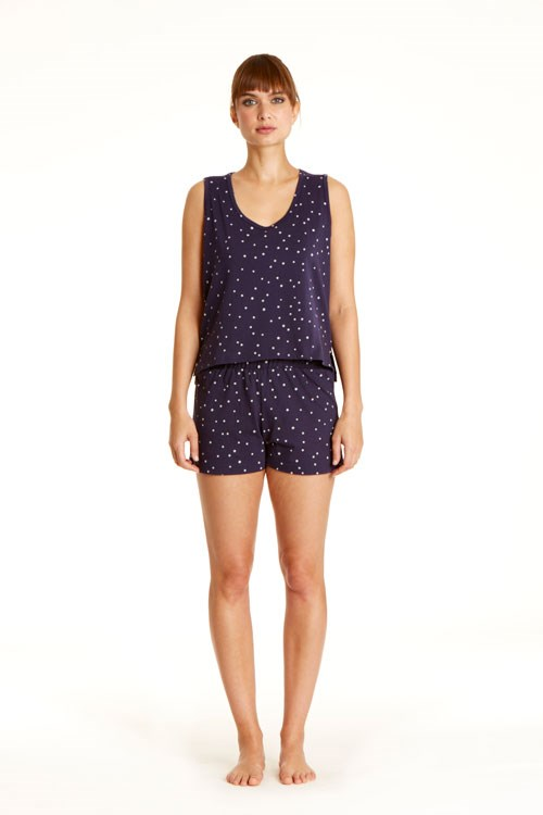 Stars Pyjama Shorts in Navy