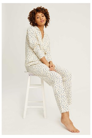 Stars Pyjama Trousers in Cream