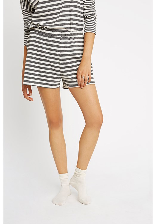 Stripe Grey Pyjama Shorts