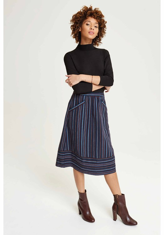 Andrea Stripe Skirt