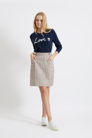Beatrice Pocket Skirt in Navy