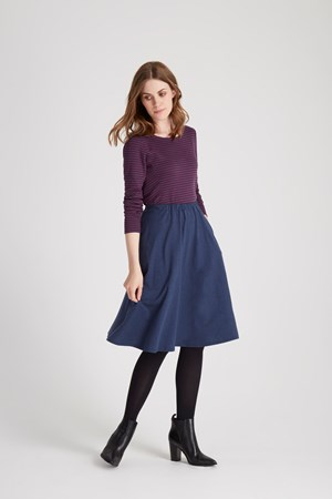 Gabrielle Jersey Skirt in Blue melange