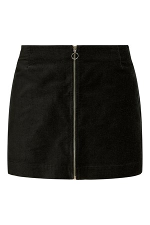 Halima Velvet Skirt in Black