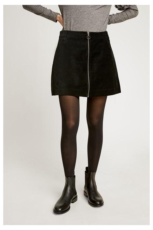 e912b9999f1 Halima Velvet Skirt in Black