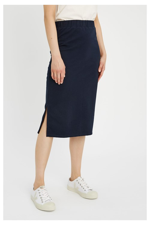 Keira Pencil Skirt in Navy