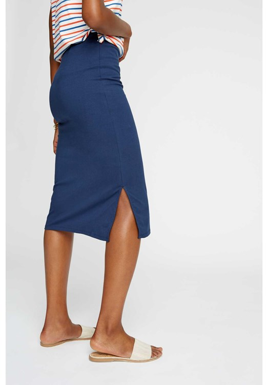 Keira Pencil Skirt in Navy from People Tree