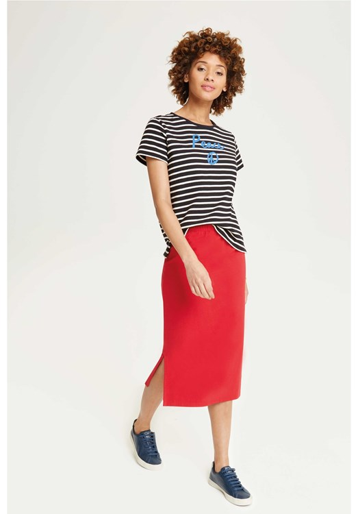 Keira Pencil Skirt Red