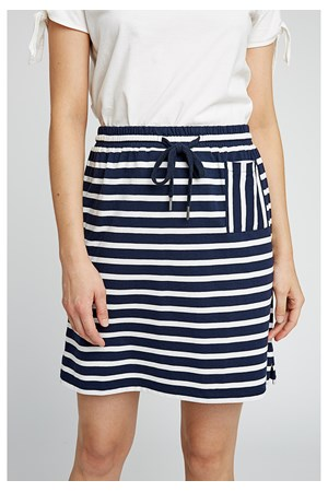 Leia Stripe Skirt in Navy