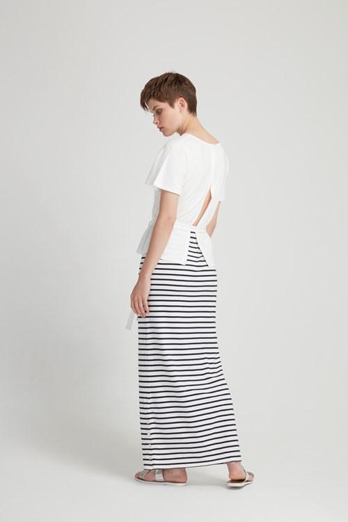 Reta Maxi Skirt in Navy from People Tree