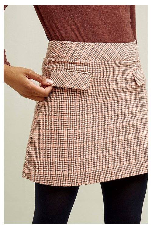 Rosa Houndstooth Skirt