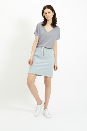 Selena Loopback Skirt in Blue